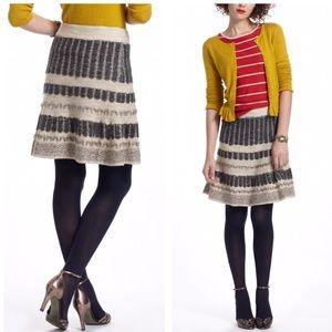 Sparrow Anthro Vermatt flounced sweater wool skirt